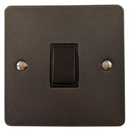 G&H FP5B Flat Plate Pewter 1 Gang Intermediate Rocker Light Switch